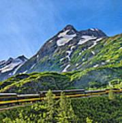 Alaska Railroad To Denali Poster