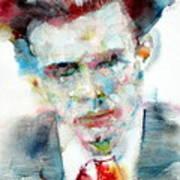 Aldous Huxley - Watercolor Portrait Poster