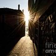 Alley In Backlight Poster