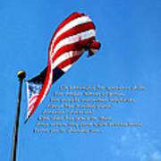 America The Beautiful - Us Flag By Sharon Cummings Song Lyrics Poster