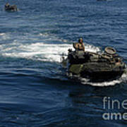 Amphibious Assault Vehicles Transit Poster