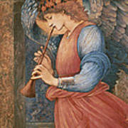 An Angel Playing A Flageolet Poster
