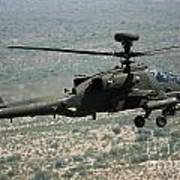 An Apache Ah64d Helicopter Poster