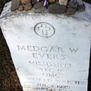 Medgar Evers -- An Assassinated Veteran Poster