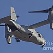 An Mv-22b Osprey Prepares For Landing Poster