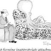 An Octopus Or Squid Lays On A Psychiatrist Or Poster
