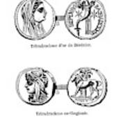Ancient Greek Coins Poster