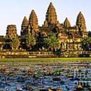 Angkor Wat At Sunset - Cambodia Poster