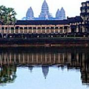 Angkor Wat Reflection Poster