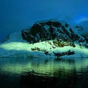Antarctic Fiord Poster