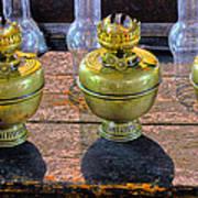 Antique Kerosene Lamps Poster
