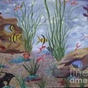 Aquarium Poster by Debra Piro
