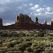 Arches National Park Sunrise Rock Formations  Poster