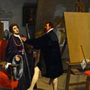 Aretino In The Studio Of Tintoretto Poster