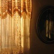 Art Homage Edward Hopper Winter Light Window Curtain Reflection Bedroom Casa Grande Arizona 2005 Poster