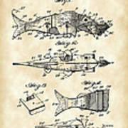 Artificial Bait Patent 1923 - Vintage Poster