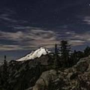 Mt. Baker At Night 1 Poster