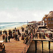 Atlantic City Boardwalk 1900 Poster