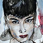 Audrey Hepburn - Abstract Art Poster