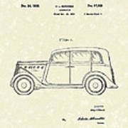 Automobile 1935 Patent Art Poster