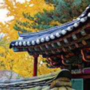 Autumn Color At Namsangol Folk Village Poster