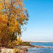 Autumn On The Dnieper River Poster