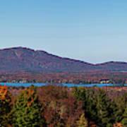 Autumn Trees At Lakeshore, Brome Lake Poster
