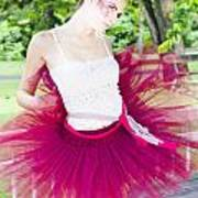 Ballerina Stretching And Warming Up Poster