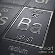 Barium Chemical Element Poster