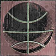 Basketball Abstract Poster by David G Paul