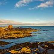 Bass Rock From Dunbar Poster