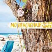 Beach At Rum Point Poster by Jo Ann Snover
