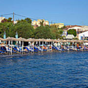Beach In Aegina Town Poster