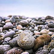 Beach Pebbles Poster