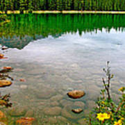 Beauvert Lake In Jasper Np-ab Poster