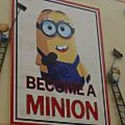 Become A Minion Poster