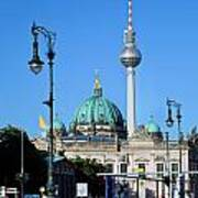 Berlin Cathedral And Tv Tower Poster