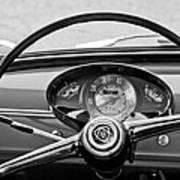 Bianchina Steering Wheel Poster