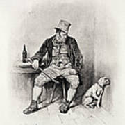 Bill Sykes And His Dog, From Charles Poster