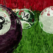 Billiards Abstract Poster