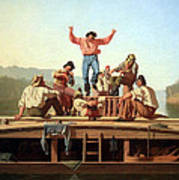 Bingham's The Jolly Flatboatmen Poster