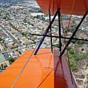 Biplane Over San Diego Poster