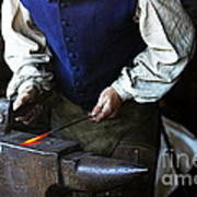 Blacksmith At The Old Fort Poster