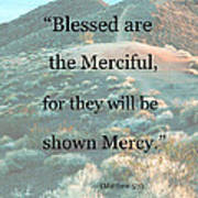 Blessed Are The Merciful Poster by Patricia Januszkiewicz