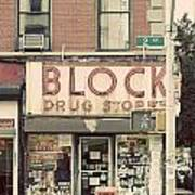Block Drug Store Poster