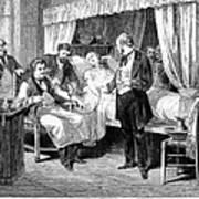 Blood Transfusion, 1874 Poster
