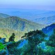 Blue Ridge Parkway National Park Sunset Scenic Mountains Summer  Poster