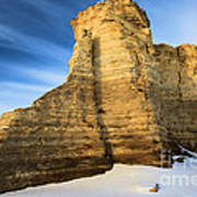 Blue Skies At Monument Rocks Poster