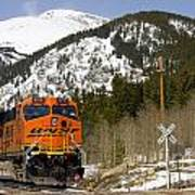 Bnsf Rolls Through Rollins Pass Colorado Poster