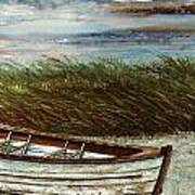 Boat On Shore Poster